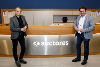 Tobias Gotthardt MdL gratuliert Auctores zu Visavid